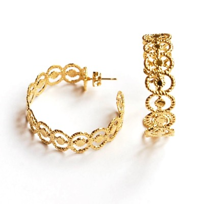 "<font SIZE=""+1"">Boucles d'oreilles Ellipse Or</font>"